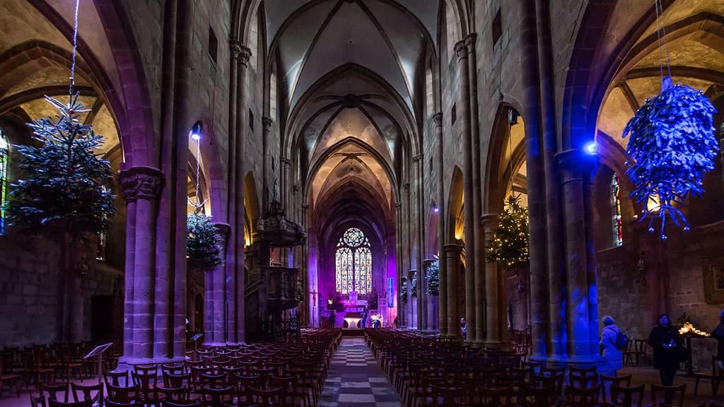 Église Saint-Georges de Sélestat à Noël