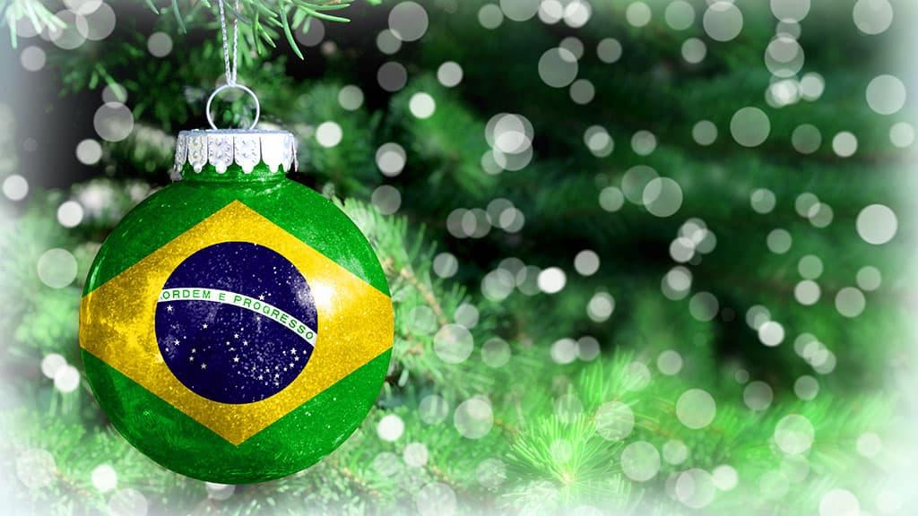 Boule de Noël aux couleurs du Brésil