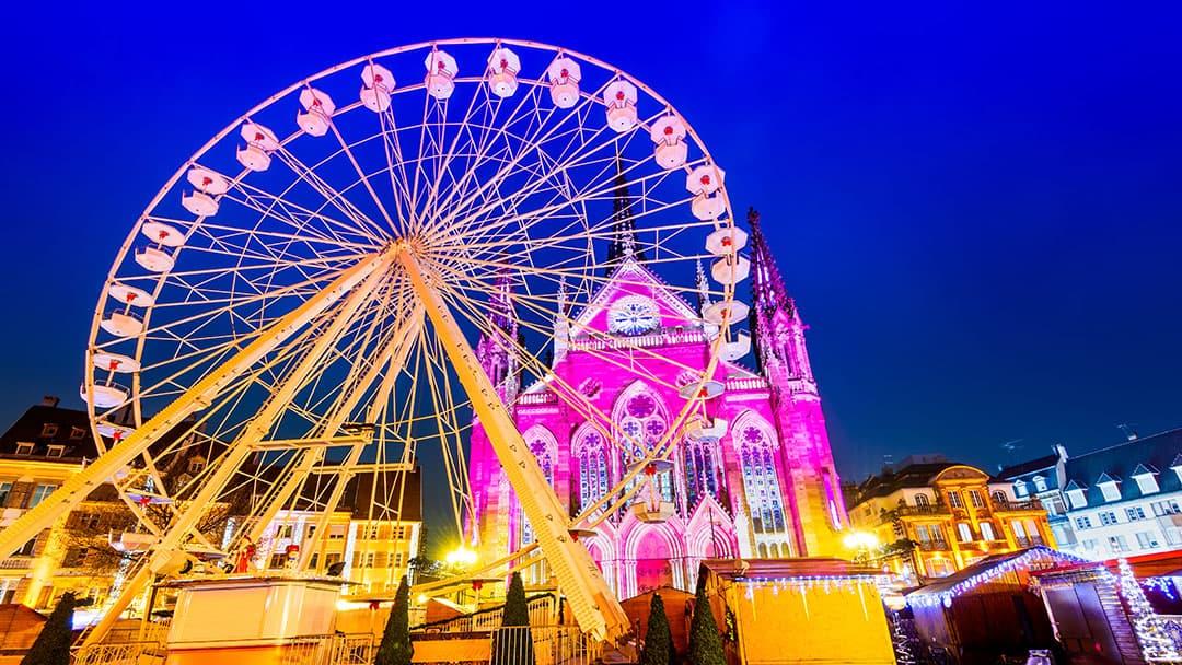 La grande roue de Noël à Mulhouse