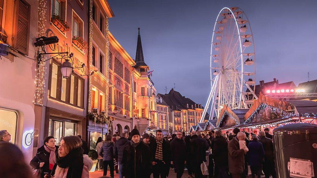 La grande roue au marché de Noël de Mulhouse