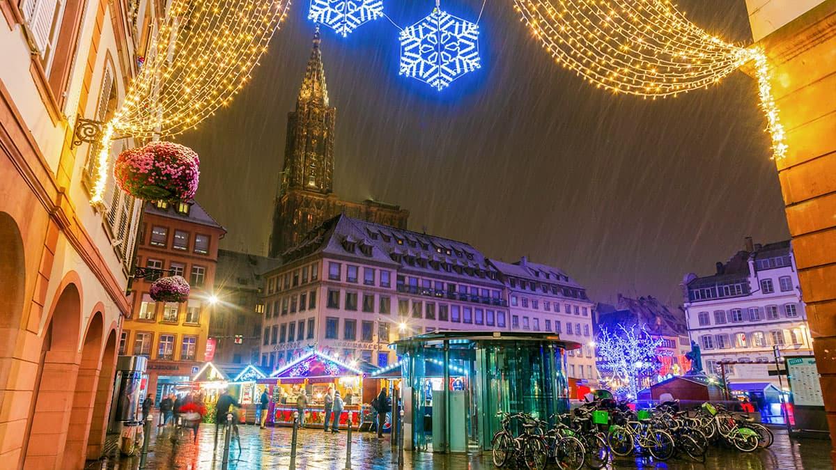 Strasbourg décoré pour Noël