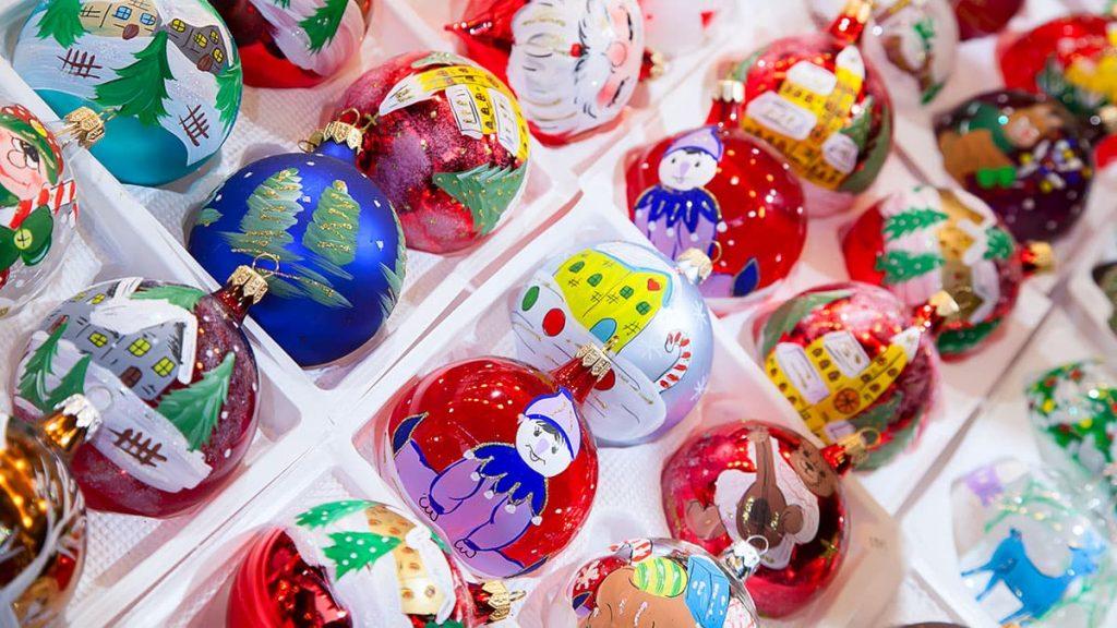 boule de Noël décoré