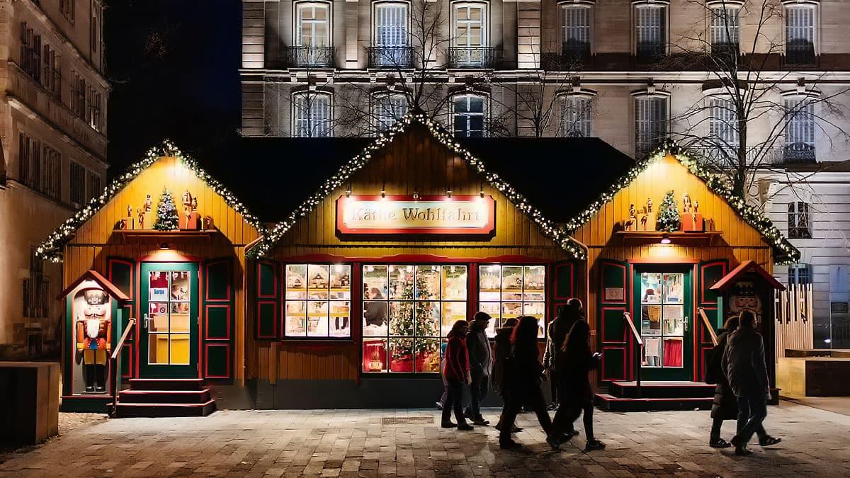 Cabane de Noël à Strasbourg