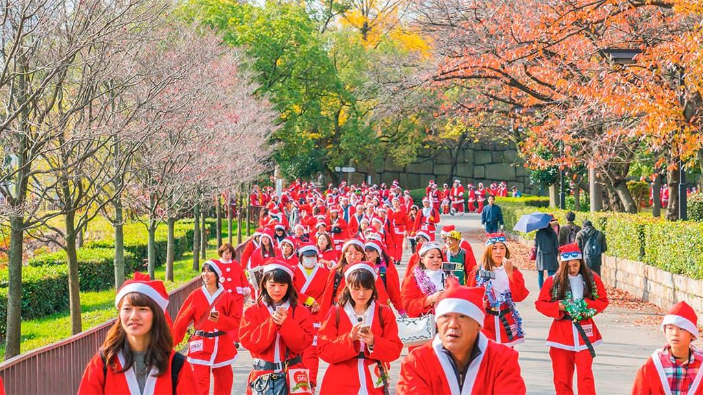 course père noël au japon