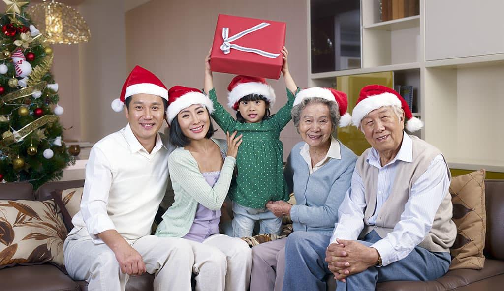 famille fête Noël au Japon