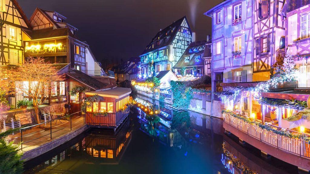 La petite Venise de Colmar à Noël
