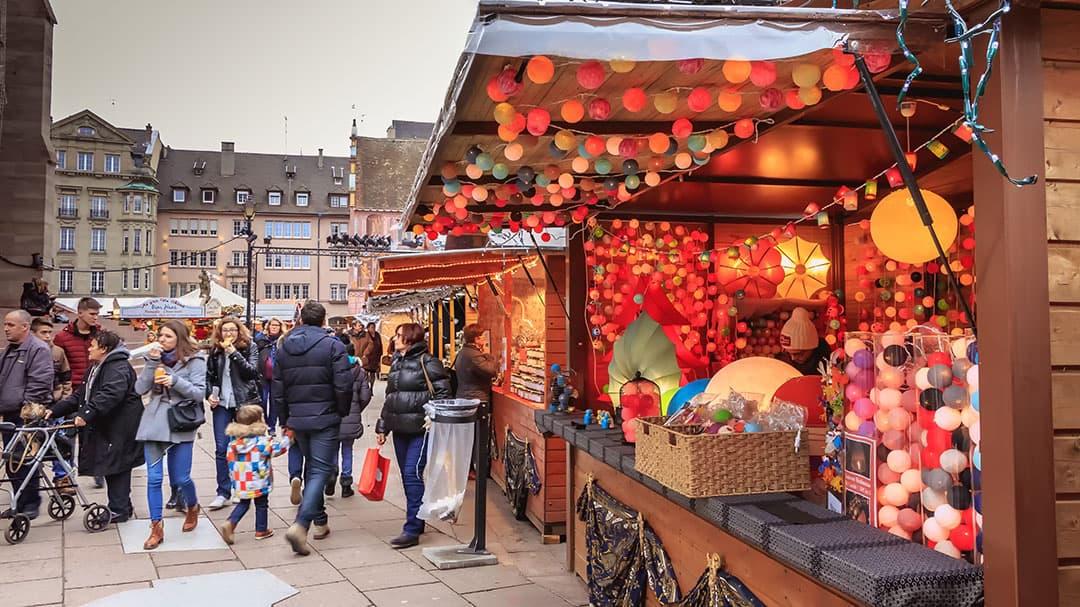 Stand du marché de Noël à Mulhouse