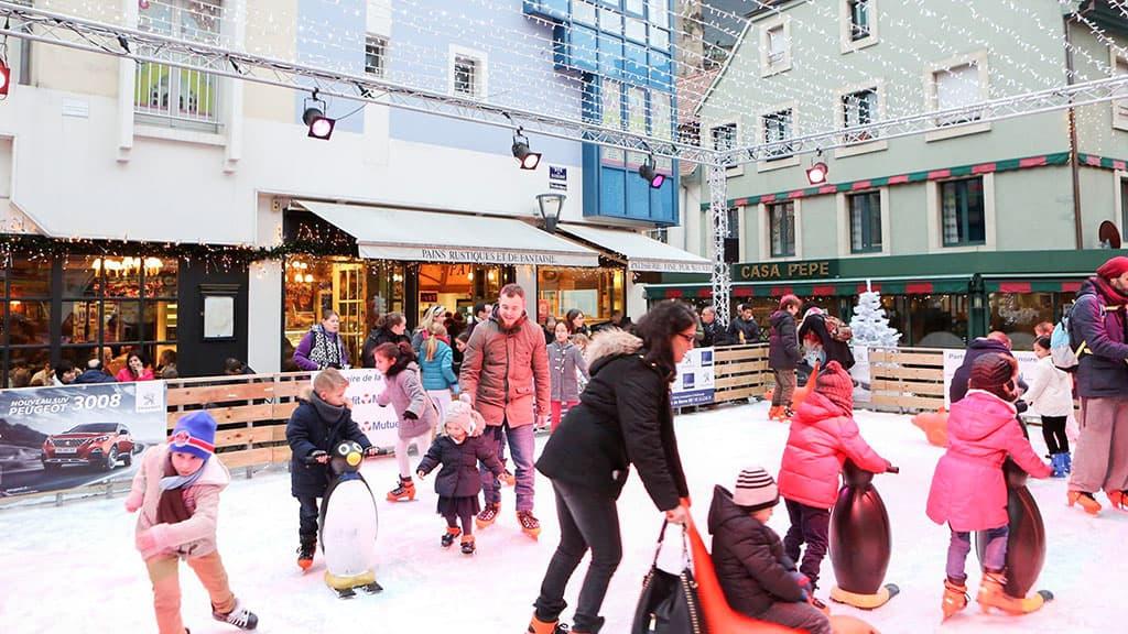 Patinoire éphémère pour Noël à Mulhouse