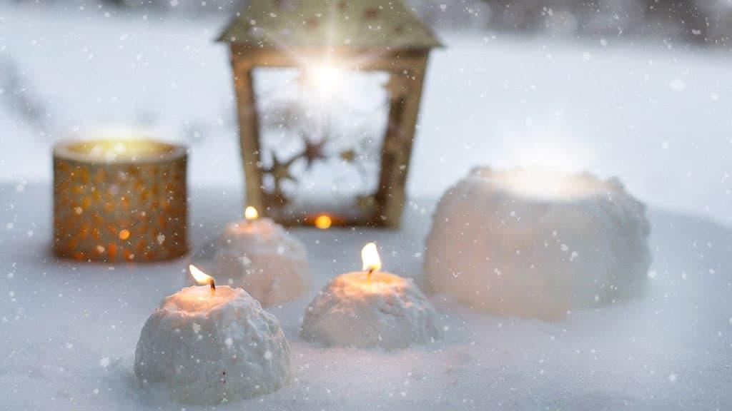 Bougies déco de Noël