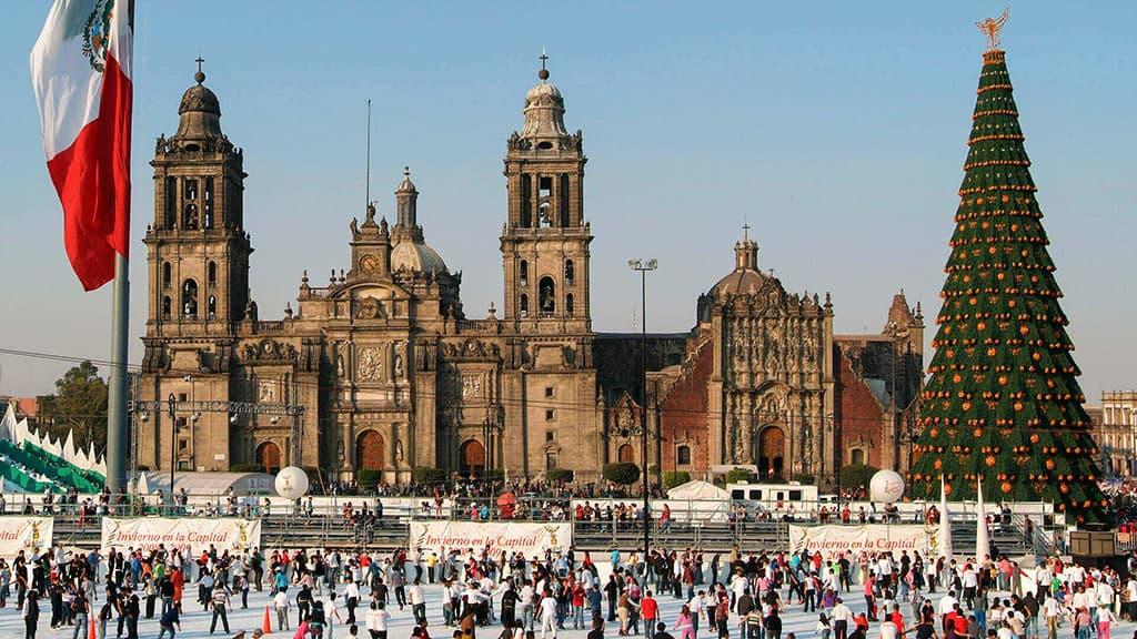 La Cathédrale de Mexico à Noël