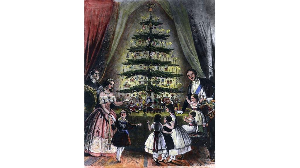 La reine Victoria avec sa famille autour du sapin de Noël