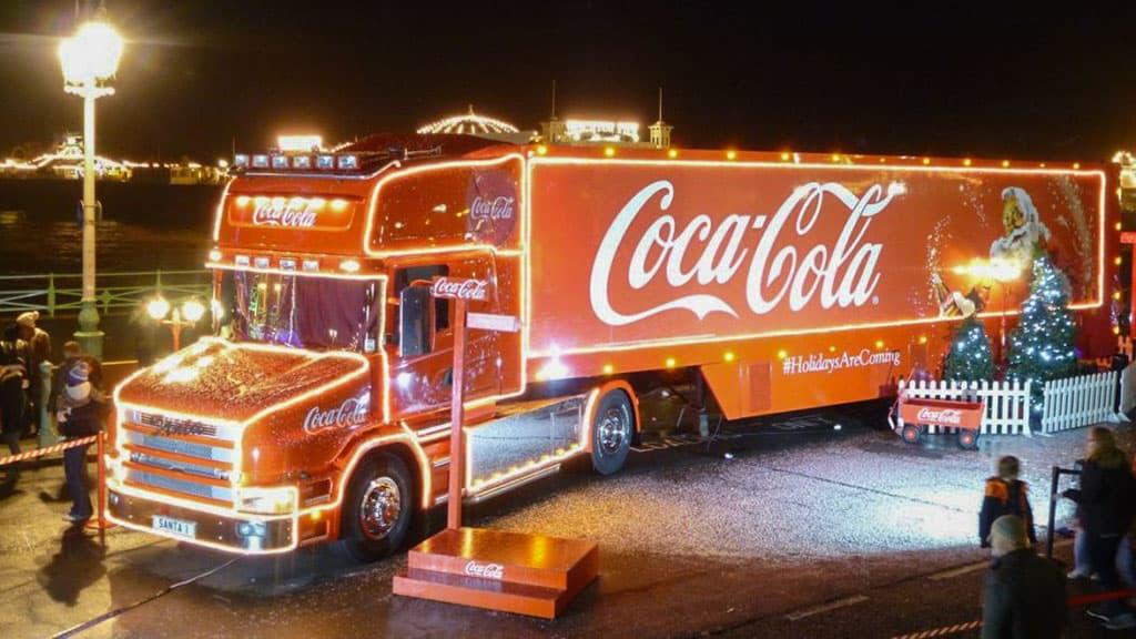 Camion publicitaire de Noël