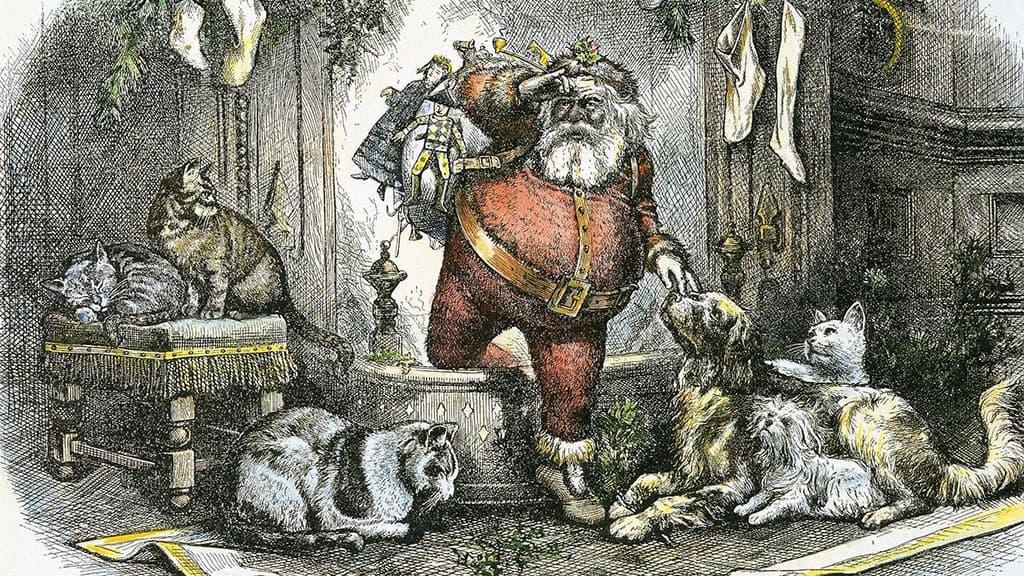 Dessin du Père Noël de Thomas Nast
