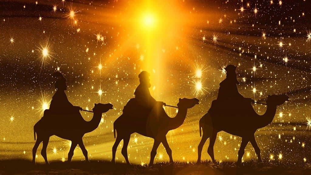 Les Trois Rois mages en route pour Bethléem