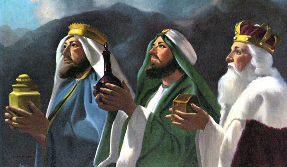 Les rois mages apportèrent de l'or, de l'encens et de la myrrhe