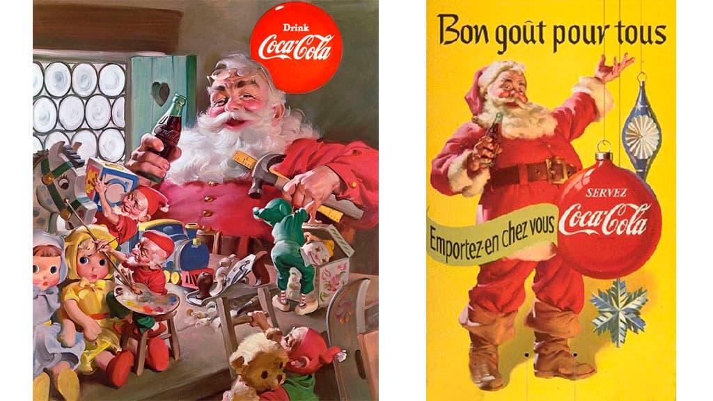Publicité Coca-Cola avec le Père Noël
