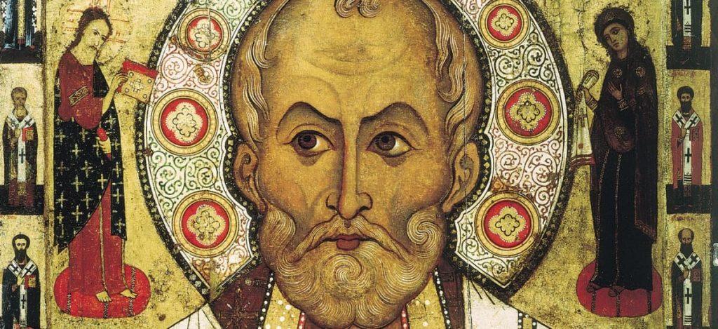 Fresque de l'évêque Saint-Nicolas de Bari, qui a inspiré le personnage du Père Noël