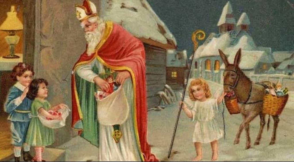 Illustration de Saint-Nicolas qui fait sa tournée