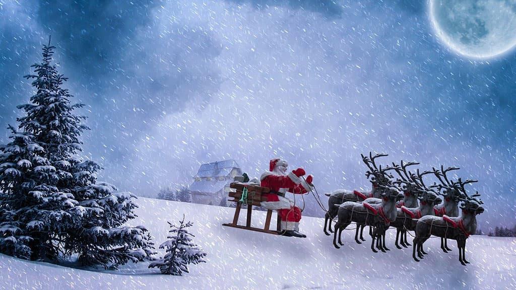 Les rennes de Santa Claus
